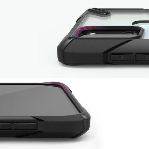 ovitek Ringke Fusion X durable za Samsung Galaxy A21S crna 3