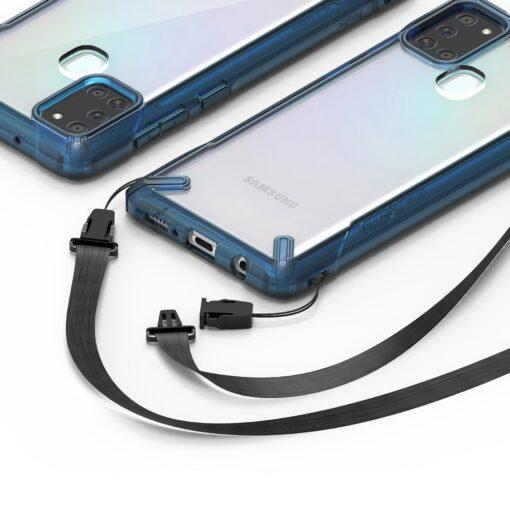 ovitek Ringke Fusion X durable za Samsung Galaxy A21S crna 4