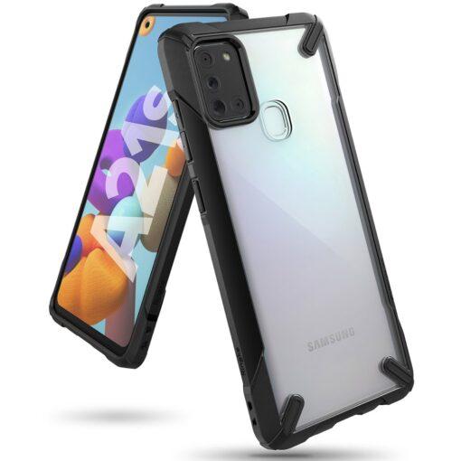 ovitek Ringke Fusion X durable za Samsung Galaxy A21S crna