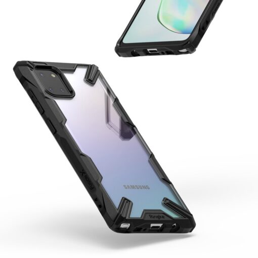 ovitek Ringke Fusion X durable za Samsung Galaxy Note 10 Lite crna 1