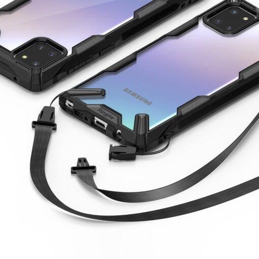 ovitek Ringke Fusion X durable za Samsung Galaxy Note 10 Lite crna 2