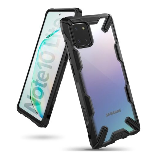 ovitek Ringke Fusion X durable za Samsung Galaxy Note 10 Lite crna