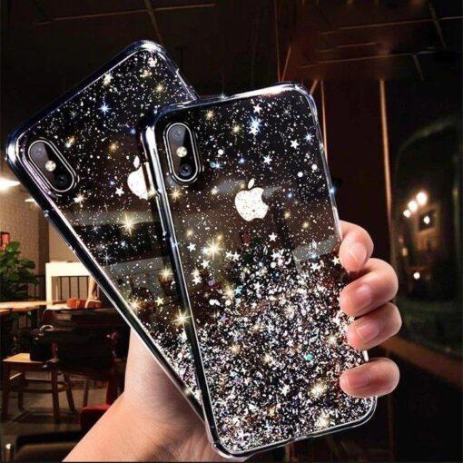 ovitek Shining Star Glitter Samsung Galaxy A31 crna 4