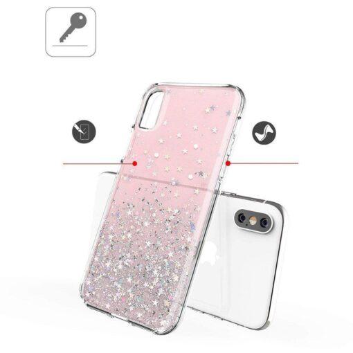 ovitek Shining Star Glitter Samsung Galaxy A31 roza 3