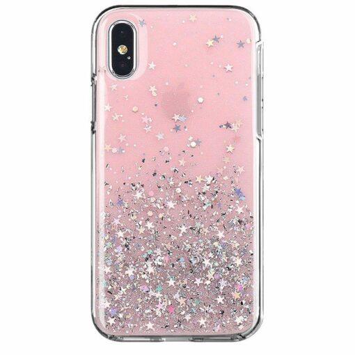 ovitek Shining Star Glitter za iPhone 12 pro max roza