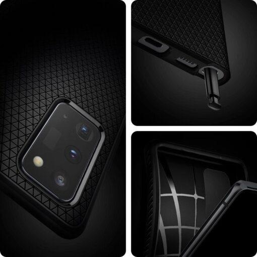 ovitek Spigen Liquid Air za Samsung Galaxy Note 20 crna 2 1