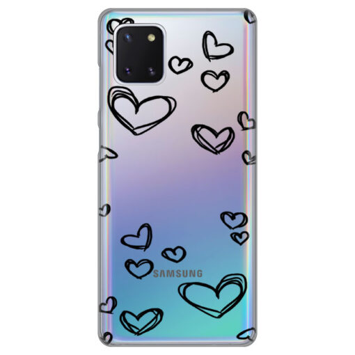 ovitek black hearts za samsung galaxy note10 lite