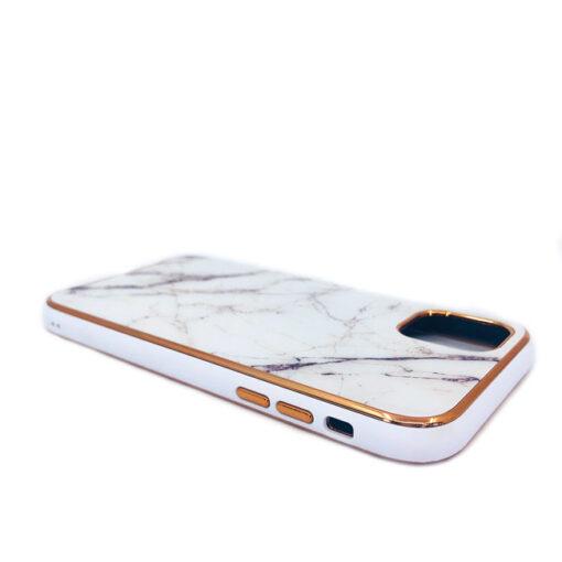 ovitek glass marmor za iphone 11 bela 1