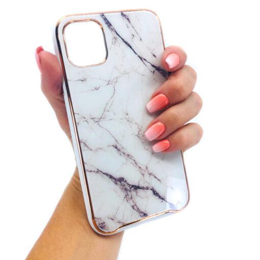 ovitek glass marmor za iphone 11 bela 2