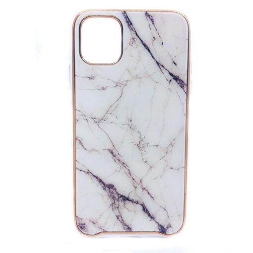 ovitek glass marmor za iphone 11 bela