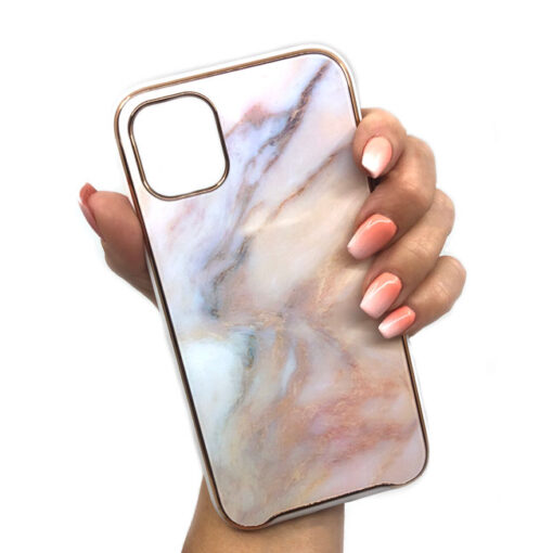 ovitek glass marmor za iphone 11 pro max peach 2