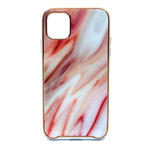 ovitek glass marmor za iphone 11 pro rdeca