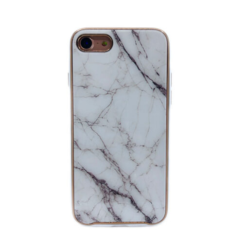 ovitek glass marmor za iphone 7 8 bela 1