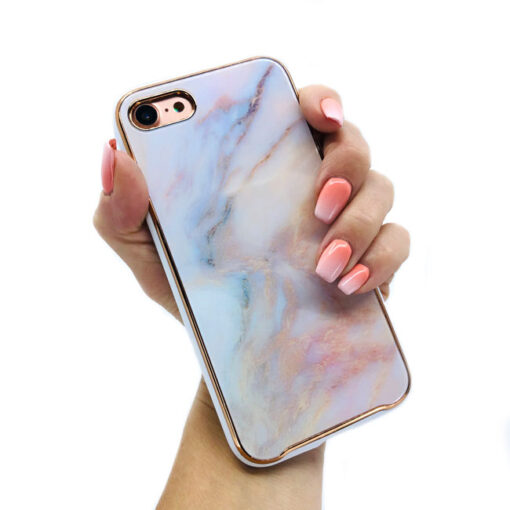 ovitek glass marmor za iphone 7 8 peach 2