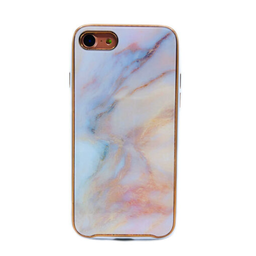 ovitek glass marmor za iphone 7 8 peach