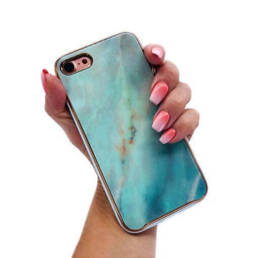 ovitek glass marmor za iphone 7 8 plus zelena