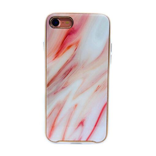 ovitek glass marmor za iphone 7 8 rdeca 1