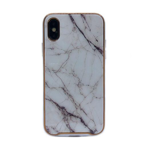 ovitek glass marmor za iphone xs bela 1