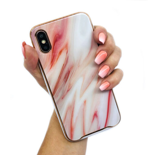 ovitek glass marmor za iphone xs rdeca