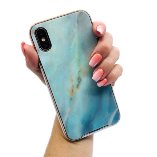 ovitek glass marmor za iphone xs zelena