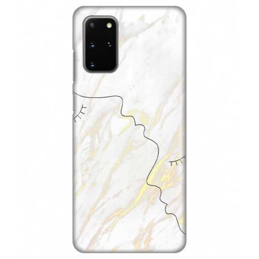 ovitek white marble faces za samsung galaxy s20 plus