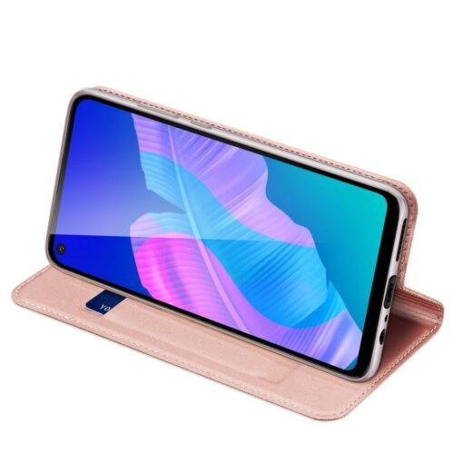 preklopni etui DUX DUCIS Skin Pro za Huawei P40 Lite E roza 3