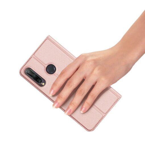 preklopni etui DUX DUCIS Skin Pro za Huawei P40 Lite E roza 5