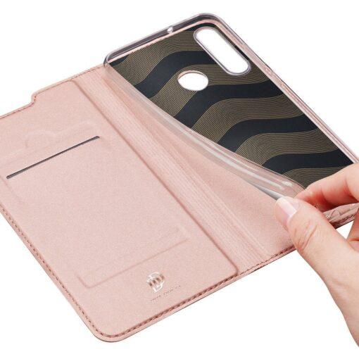 preklopni etui DUX DUCIS Skin Pro za Huawei P40 Lite E roza 6