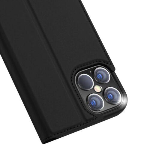 preklopni etui DUX DUCIS Skin Pro za iPhone 12 Pro Max crna 5