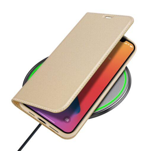 preklopni etui DUX DUCIS Skin Pro za iPhone 12 Pro Max zlata 3