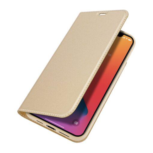 preklopni etui DUX DUCIS Skin Pro za iPhone 12 Pro Max zlata 4