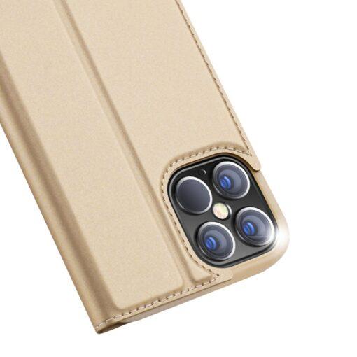 preklopni etui DUX DUCIS Skin Pro za iPhone 12 Pro Max zlata 5