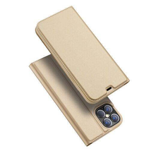 preklopni etui DUX DUCIS Skin Pro za iPhone 12 Pro Max zlata