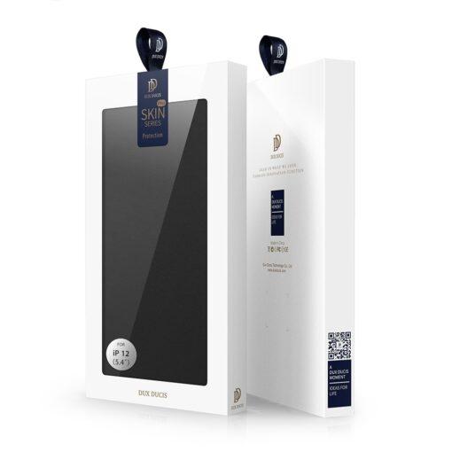 preklopni etui DUX DUCIS Skin Pro za iPhone 12 crna 4