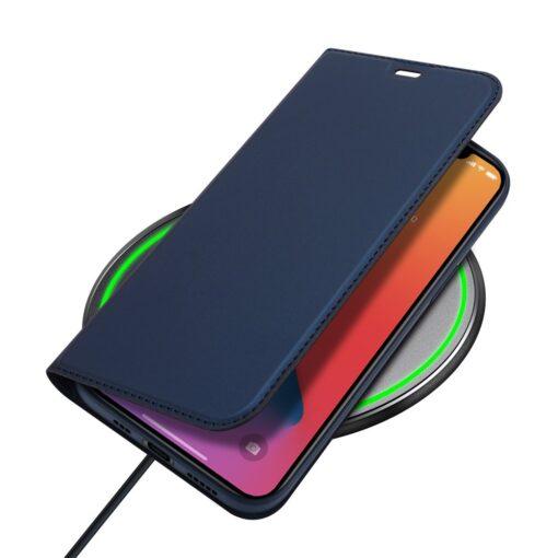 preklopni etui DUX DUCIS Skin Pro za iPhone 12 pro 12 max modra 2