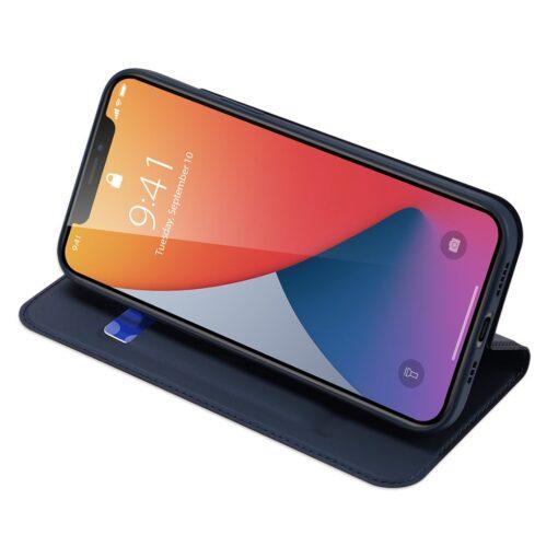 preklopni etui DUX DUCIS Skin Pro za iPhone 12 pro 12 max modra 3