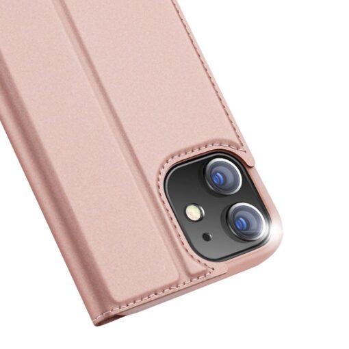 preklopni etui DUX DUCIS Skin Pro za iPhone 12 roza 1