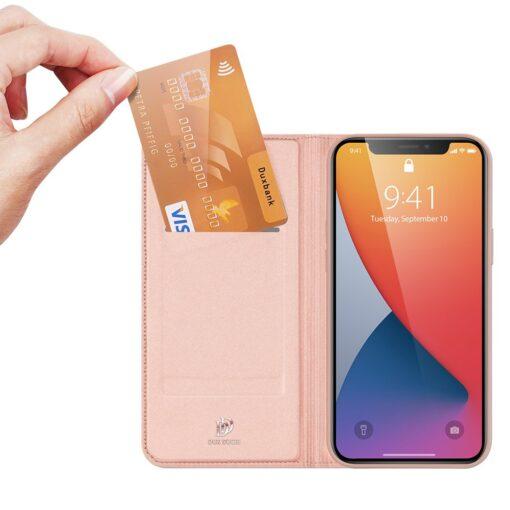 preklopni etui DUX DUCIS Skin Pro za iPhone 12 roza 2