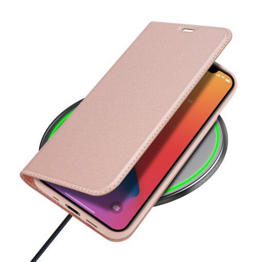 preklopni etui DUX DUCIS Skin Pro za iPhone 12 roza 5