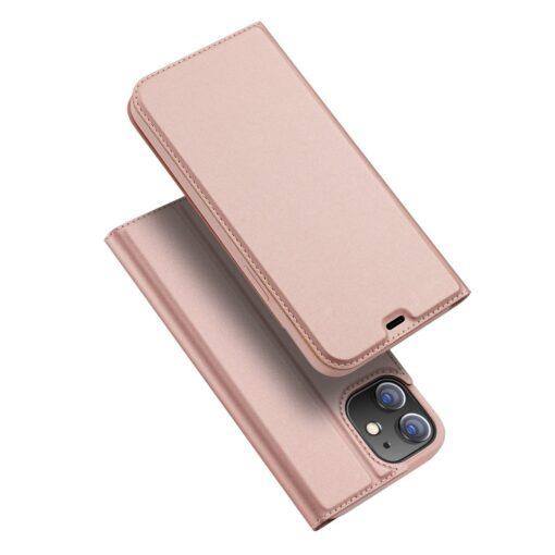 preklopni etui DUX DUCIS Skin Pro za iPhone 12 roza