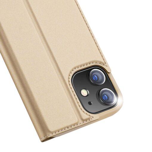 preklopni etui DUX DUCIS Skin Pro za iPhone 12 zlata 2