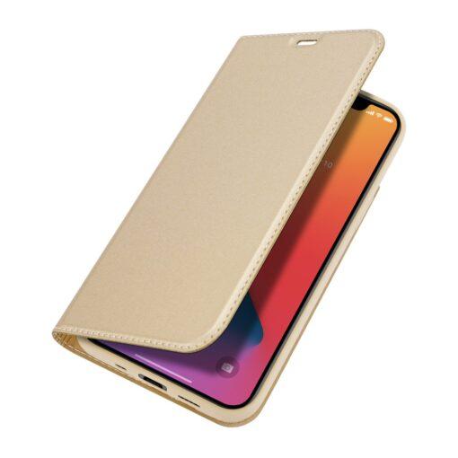 preklopni etui DUX DUCIS Skin Pro za iPhone 12 zlata 3