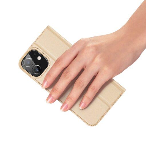preklopni etui DUX DUCIS Skin Pro za iPhone 12 zlata 5 1