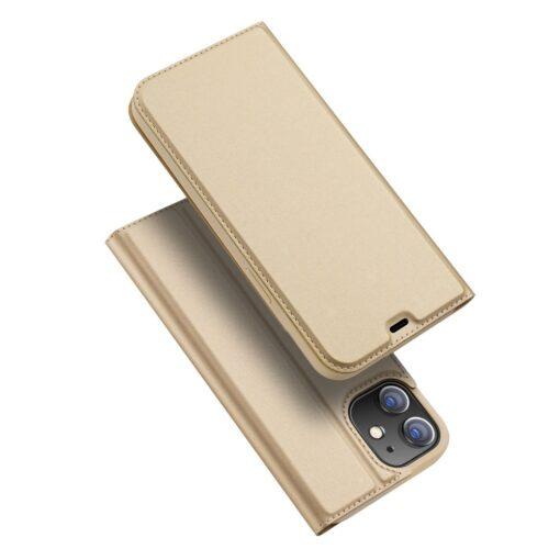 preklopni etui DUX DUCIS Skin Pro za iPhone 12 zlata