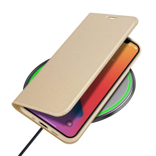 preklopni etui DUX DUCIS Skin Pro za iPhone 12 zlata 6 1