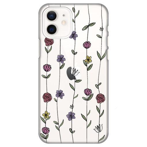 silikonski ovitek za iphone 12 mini flowers