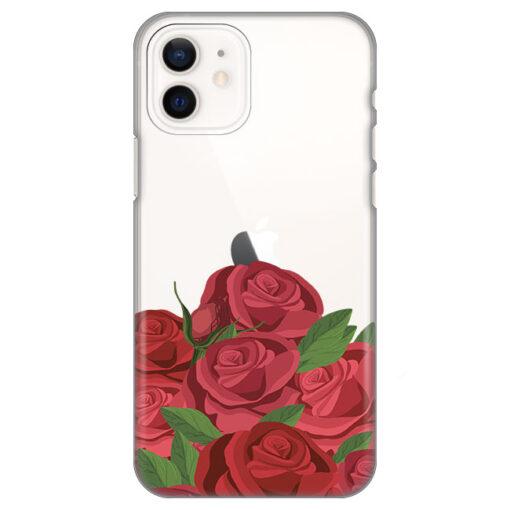 silikonski ovitek za iphone 12 mini roses