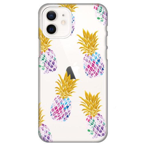 silikonski ovitek za iphone 12 pineapples