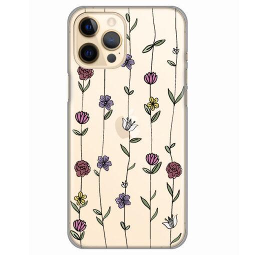 silikonski ovitek za iphone 12 pro flowers