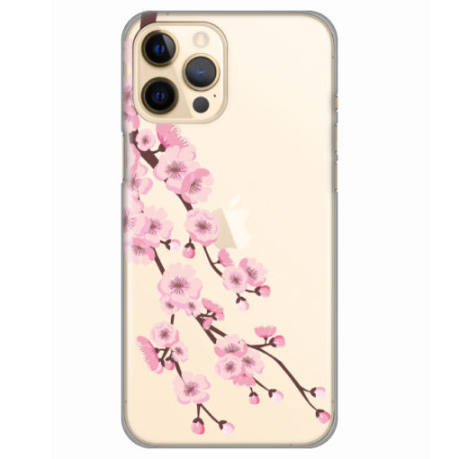 silikonski ovitek za iphone 12 pro max cherry blossoms